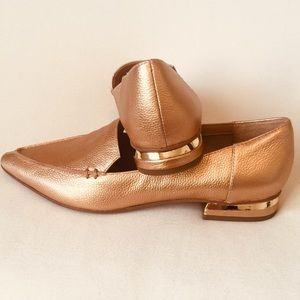 Franco Sarto pointed toe gold flats